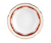 Мария Луиза Лилия Красная набор тарелок 22см для супа 6шт