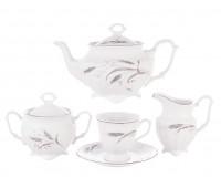 Тхун Констанция Серебряные колосья сервиз чайный на 6 персон 15 предметов